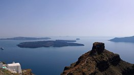 View of Skaros and the Volcano from Tholos Resort