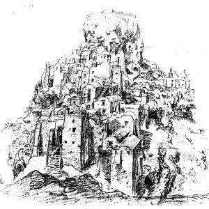 Skaros Rock Medieval Fortress
