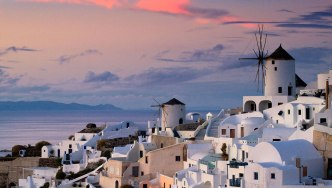 Windmills of Oia in Santorini