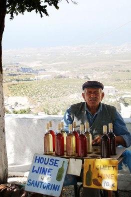 Homemade wine from Santorini